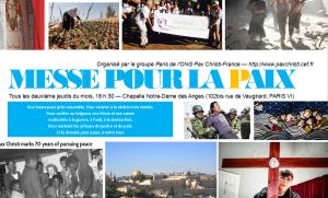 2016 Messe pour la paix