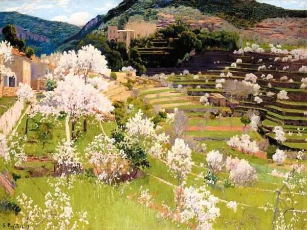 santiago_rusinol_terraced_garden_in_mallorca_1911